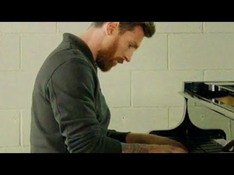 Lionel Messi play Champions League tune on Piano 🎶