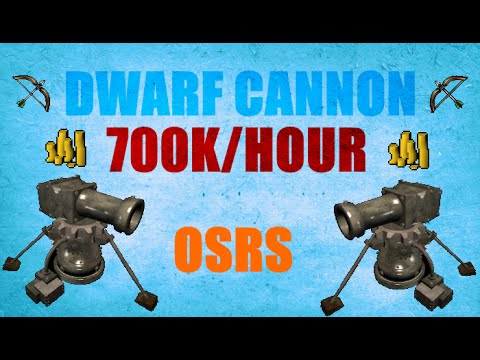 osrs make money with cannon
