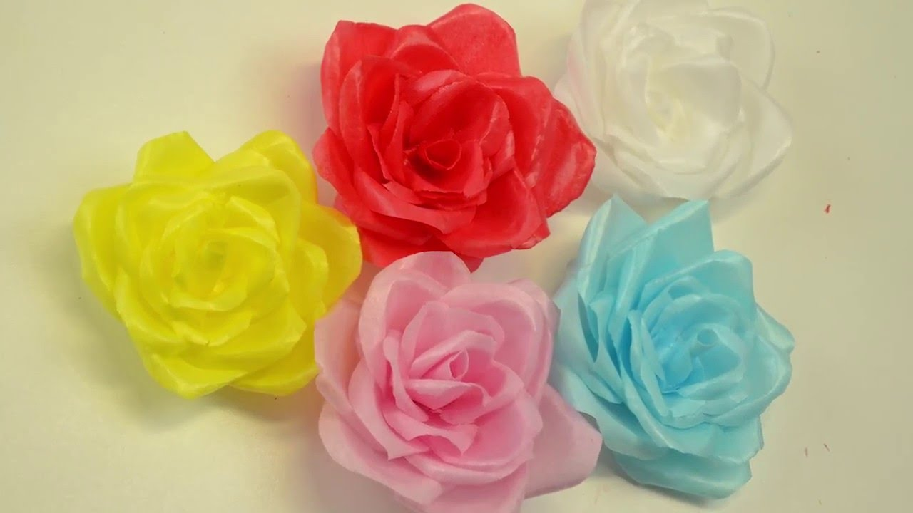 Rosas de papel de arroz youtube for Rosas de papel