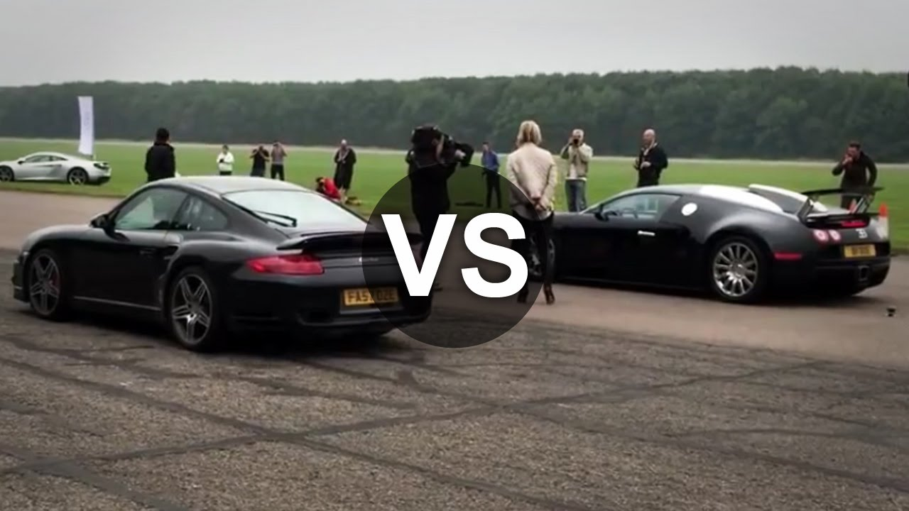 bugatti veyron vs porsche 911 turbo drag race draginfo youtube. Black Bedroom Furniture Sets. Home Design Ideas