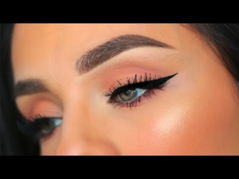 113268c61ec EASY HOW TO APPLY FAKE EYELASHES & APPLY WINGED EYELINER 2019 - YouTube