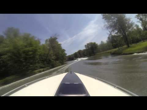 Chain of Lakes Inland Waterway, Indian River Michigan - GoPro - HD