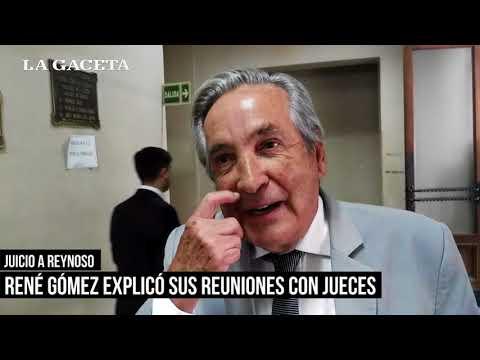 René Gómez declaró y confirmó su amistad con Reynoso