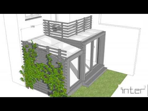 Extension d\'une maison - Toiture vitrée - Structure métallique