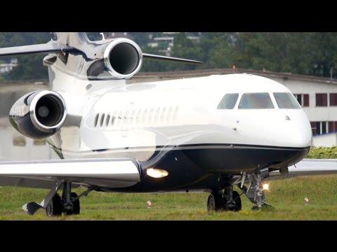 Dassault Falcon 7X Executive Jet Charter Take-Off at Bern