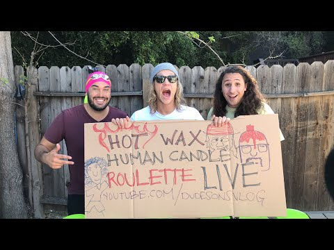 Hot Wax Human Candle Roulette LIVE! (1000 Candles!)