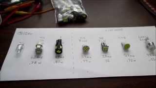"12 volt ""1 watt"" LED wedge light bulb reviews (six bulbs tested)"