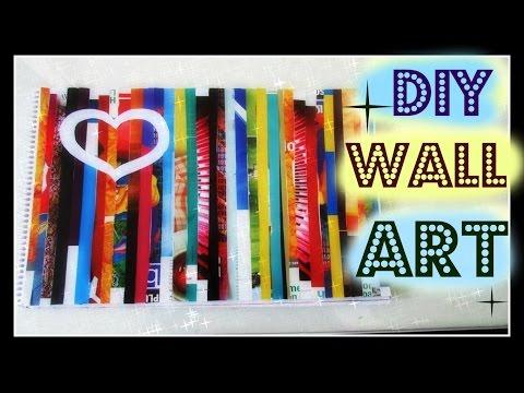 ✽ ♡ DIY EASY MAGAZINE WALL ART✽ ♡