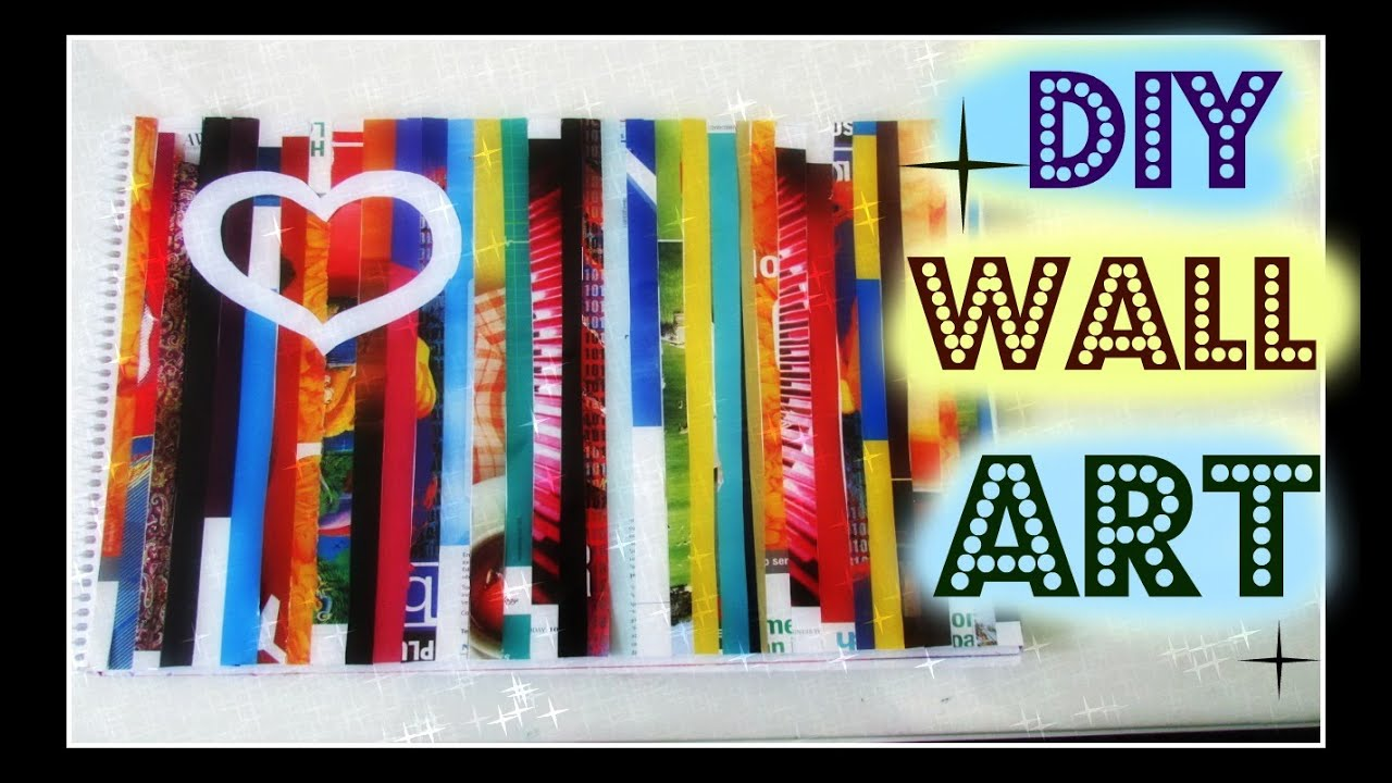 Diy easy magazine wall art youtube - Magazine wall decor ...