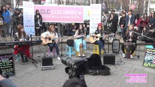 2015.03.15 씨엘씨.CLC (Crystal Clear).Rolling In The Deep (Adele).홍대놀이터