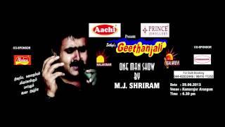 Sathyasgeethanali One Man Show by MJ Shriram Promo