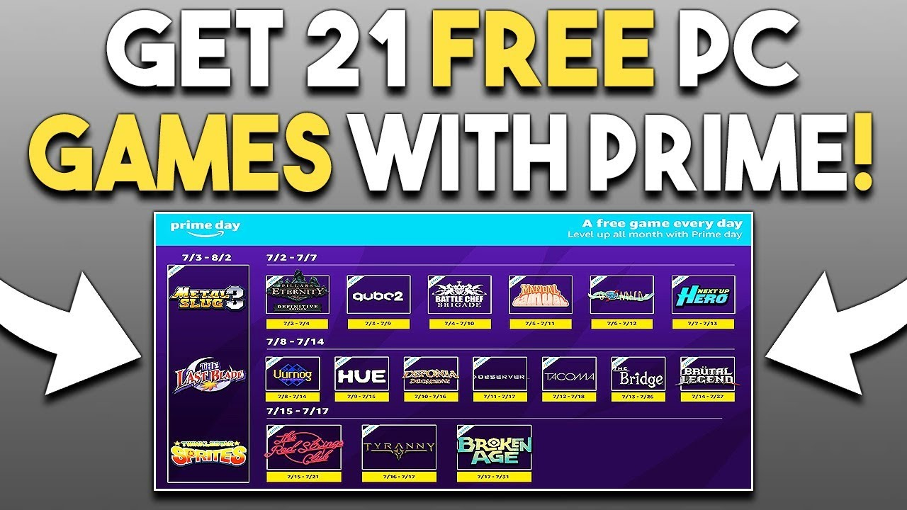 Get 21 FREE PC Games with Prime! 5 GREAT FINAL Deals for ...