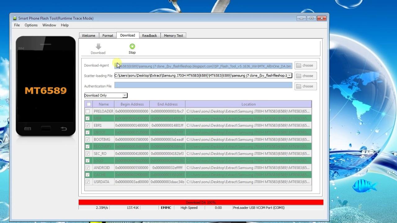 Samsung J700H China Clone After Flash Display Problem Solve