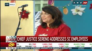 WATCH: Chief Justice Sereno addresses Supreme Court employees amid impeachment woes