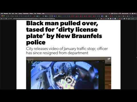 BM Pulled Over In New Braunfels TX For A Dirty License Plate