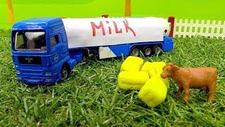 Vidéo pour enfants de véhicules d'assistance № 4 : Tracteur avec une remorque