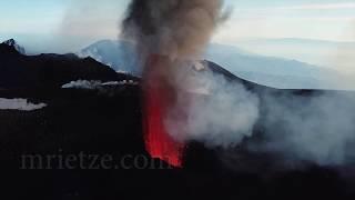 Etna activity from 9.Feb. 2020