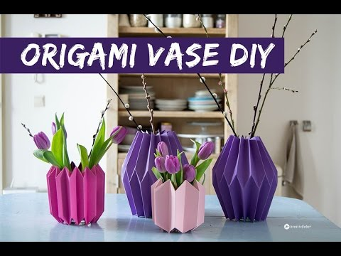 diy origami vase himmel h lle vase fortune teller vase funnycat tv. Black Bedroom Furniture Sets. Home Design Ideas