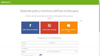 Cómo registrarse en Educaplay
