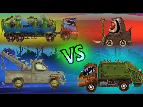 Big Trucks | Scary Garbage truck | Loading Truck | Fork Lift | Tow Truck | Kids Video
