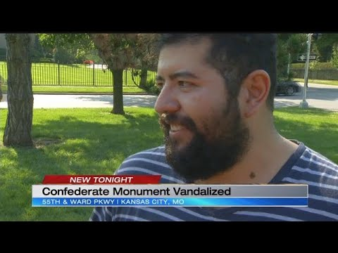 'United Daughters of the Confederacy' monument vandalized in Kansas City