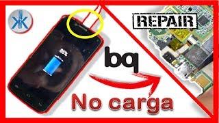 """👍✔ bq Acuaris 5 HD """"no carga"""" reparción conector de carga micro USB"""