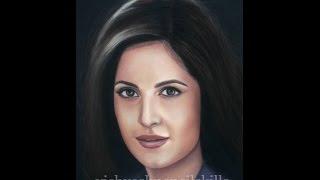 Drawing Katrina Kaif - pastel