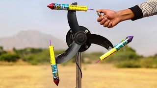 Rocket on a table fan - Top Awesome experiment 2019
