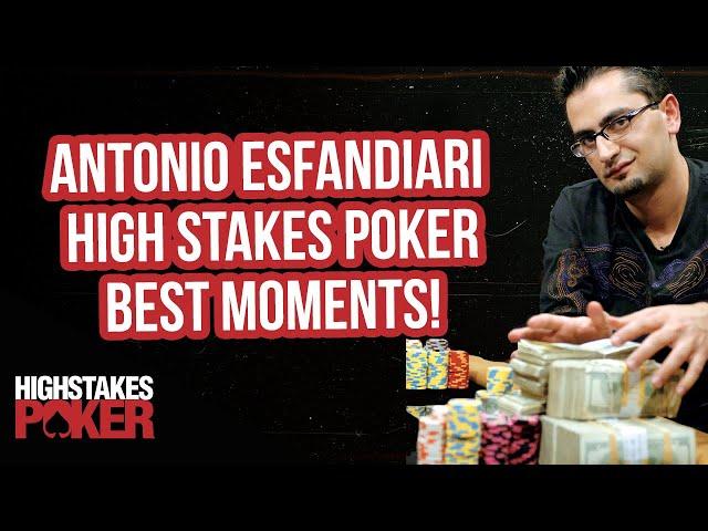 Antonio Esfandiari Best High Stakes Poker Hands!