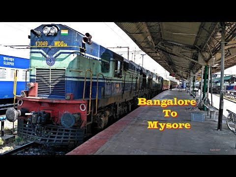 BANGALORE MYSORE Train Journey Behind Twin ALCOS  [Oct 2016] - RajyaRani Express