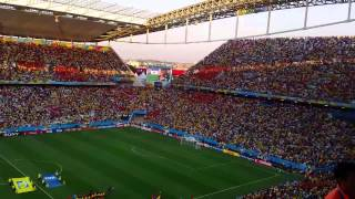 fifa world cup brazil 2014 national anthems south korea belgium arena corinthians sao paulo