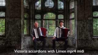 Gambar cover Argentine Tango Accordion Duo HuuBér Huib Hölzken El Choclo Limex MIDI MPR4-Victoria-fisarmonica