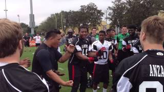 "Isaac Savaiinaea and Kennedy Tulimasealii Teach ""The Haka"""