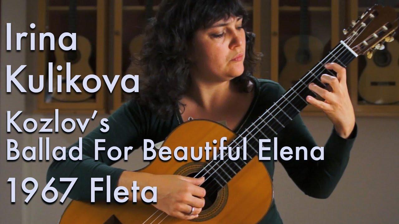 1967 Ignacio Fleta - Irina Kulikova plays Ballad for Beautiful Elena