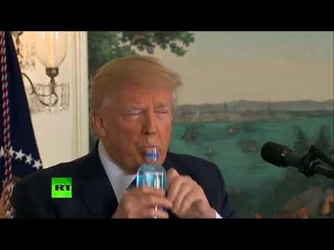 'They don't have water': Trump's 'bottle moment' goes viral