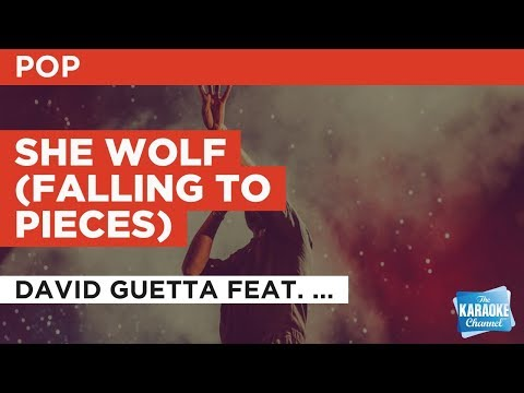 She Wolf (Falling To Pieces) in the style of David Guetta feat. Sia | Karaoke with Lyrics