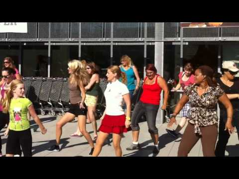 FlashMob Zumba Dance Party at Panzer Kaserne in Stuttgart, Germany
