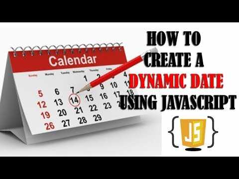 How To Set A Dynamic Date For Your Website Using Javascript