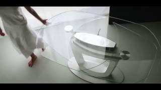 Столы для кухни стеклянные раздвижные: раскладные трансформеры, овальный и круглый, фото, видео