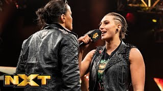 Rhea Ripley gets in Shayna Baszler's face: WWE NXT, Aug. 28, 2019