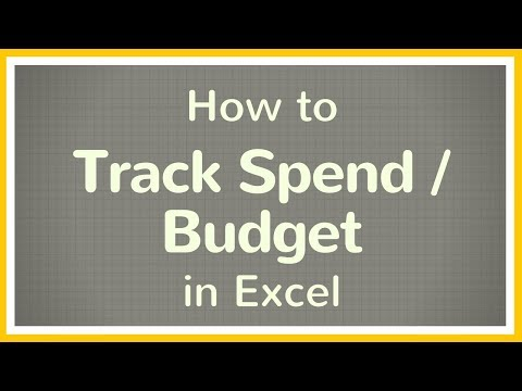 How to Create a Budget in Excel / How to Track your Spend Using Excel – Tutorial 💲