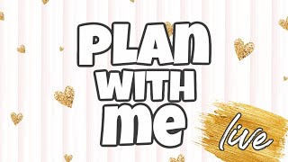 🔴 LIVE PLAN WITH ME | Amplify Planner Review