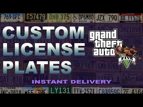GTA 5 - Custom License Plates - Instant Delivery
