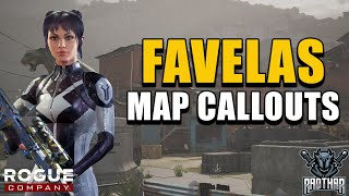 MAP CALLOUTS - FAVELAS (with Walkthrough) | Rogue Company Map Guides