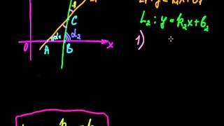 §16 Угол между двумя прямыми на плоскости