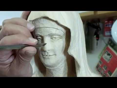 Carving Saint Clare Part 3 of 3