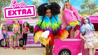 Barbie EXTRA Dolls Unboxing Barbie And Sisters Camping Trip With Barbie Extra Dolls
