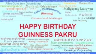 GuinnessPakru   Languages Idiomas - Happy Birthday