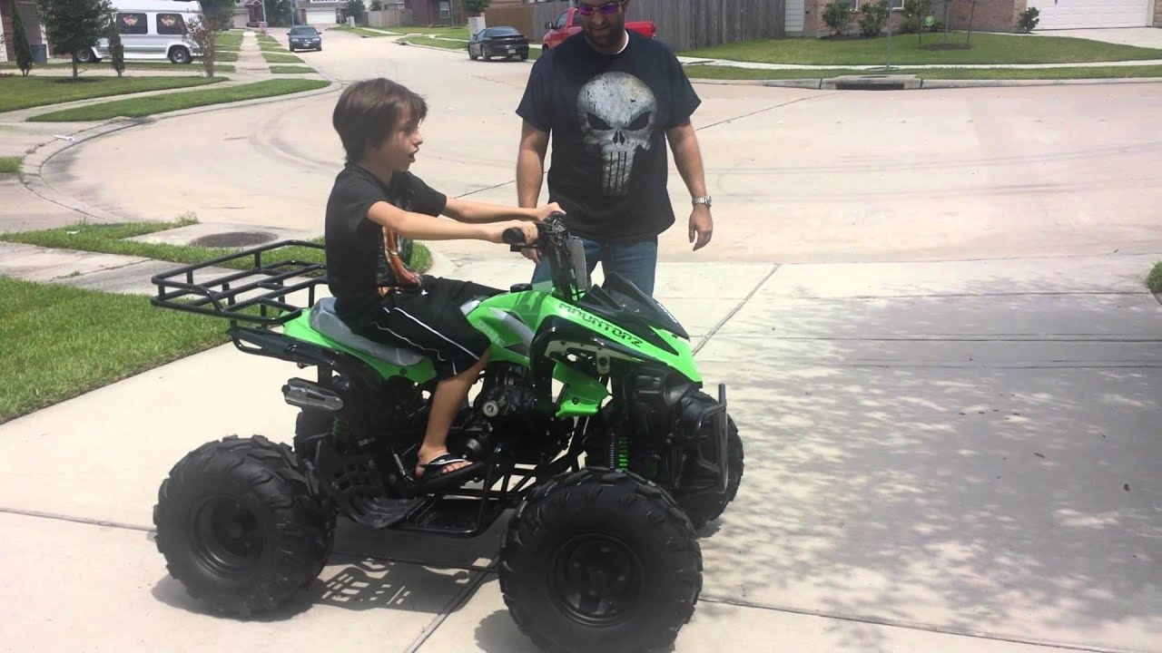 Seth s an ATV for his 10th birthday