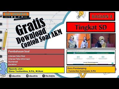 Contoh Soal Akm Sd Bagian 4 Asesmen Nasional 2021 Download Soal Akm Guruonradio 106 Diauntirta Youtube